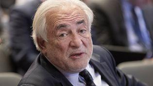 L'ancien directeur général du FMI Dominique Strauss-Kahn lors d'une réunion à Washington le 19 avril 2017 (MICHAEL REYNOLDS / EPA)