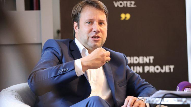 Le président socialiste de la Bretagne, Loïg Chesnais-Girard, le 21 juin 2021 à Rennes (Ille-et-Vilaine). (VINCENT MICHEL / LE MENSUEL DE RENNES / MAXPPP)