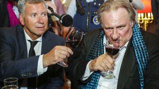 """L'acteur Gérard Depardieu à l'occasion de la présentation du film """"Les Valseuses"""" au festival international du film de Bruxelles, 25 juin 2018 (DAINA LE LARDIC/ISOPIX/SIPA)"""
