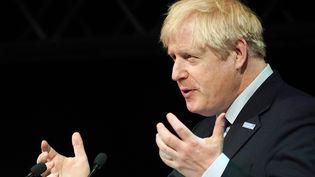 Le Premier ministre britannique Boris Johnson, à Rotherham (Royaume-Uni), le 13 septembre 2019. (CHRISTOPHER FURLONG / AFP)