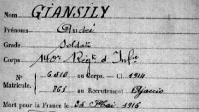 (André Giansily mort pour la France en 1916 © RF/Gaele Joly)