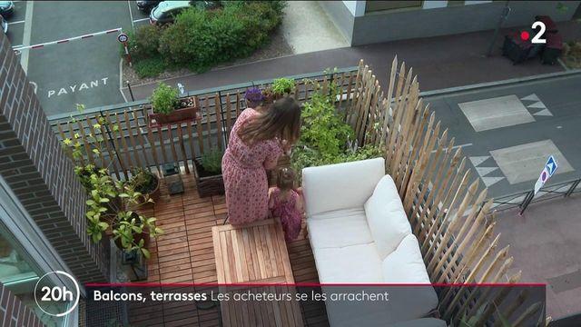 les acheteurs s'arrachent les appartements dotés d'un balcon ou d'une terrasse