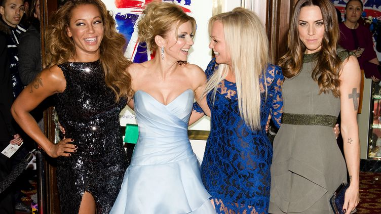 Les Spice Girls, sans Victoria Beckham, à Londres, le 11 décembre 2012. (LEON NEAL / AFP)