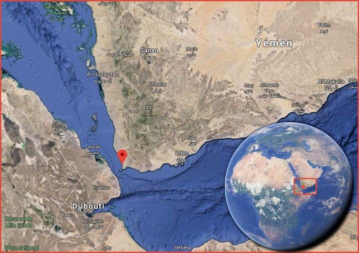 La scène a pu être localisée à l'ouest du Yémen, au sud du port d'Hodeïda. (GOOGLE MAPS)