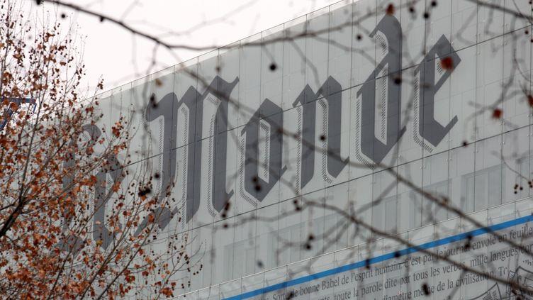 """La façade du journal """"Le Monde"""", le 27 décembre 2007, à Paris. (FRANCOIS GUILLOT / AFP)"""