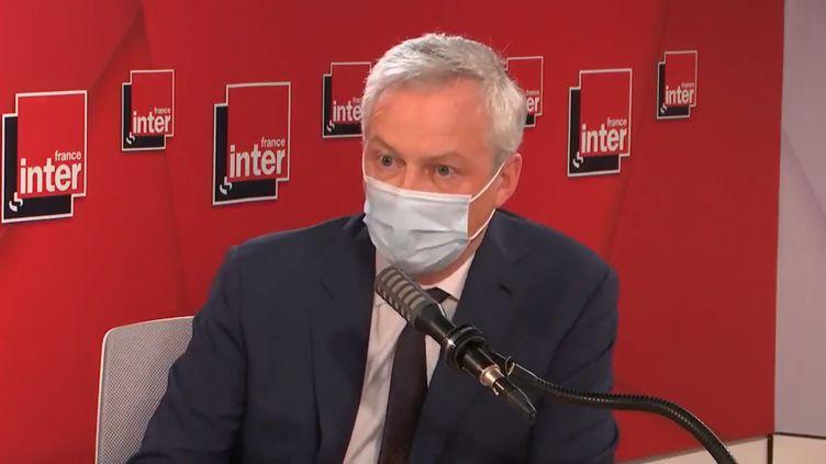 Bruno Le Maire, ministre de l'Economie, invité de France Inter, jeudi 27 mai 2021. (France Inter)