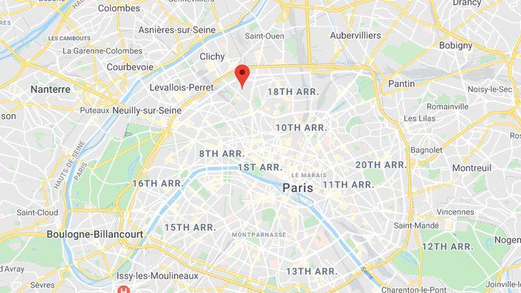 Rue Sauffrey, Paris 17e arrondissement. (CAPTURE D'ECRAN GOOGLE MAPS)