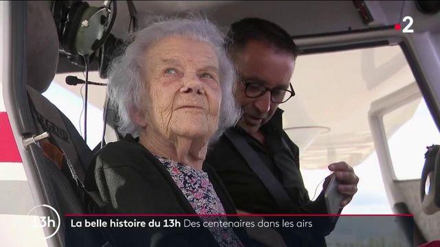 Haute-Saône : à 101 ans, Marie-Louise et ses amies de l'Ehpad ont fait un baptême de l'air