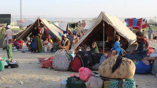 Un camp de réfugiés afghans au Pakistan, à la frontière avec l'Afghanistan, le 31 août 2021. (- / AFP)