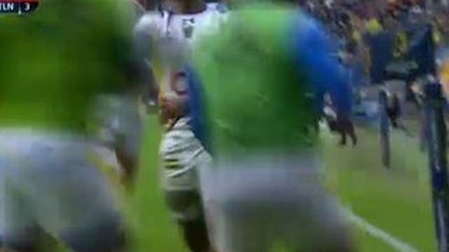 Premier essai de l'ASM contre Toulon