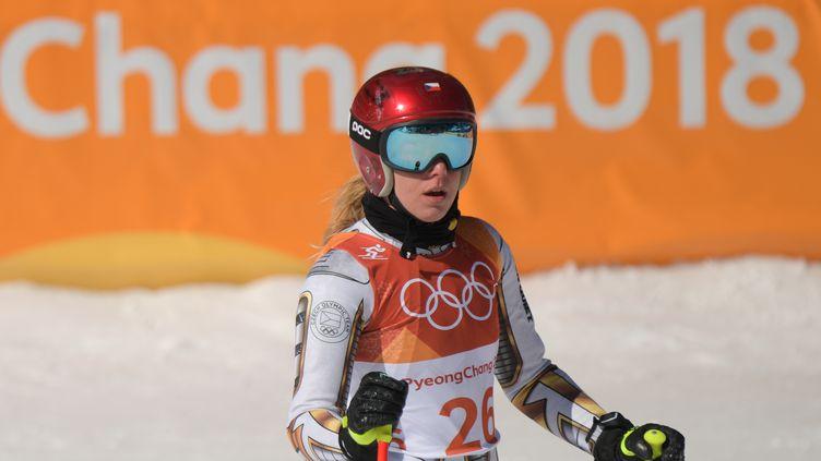 Ester Ledecka a fait le meilleur temps des qualifications en snowboard alpin (MARTIN BERNETTI / AFP)