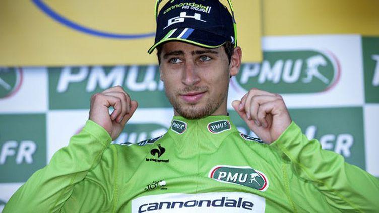 Le Slovaque Peter Sagan, encore maillot vert du Tour de France