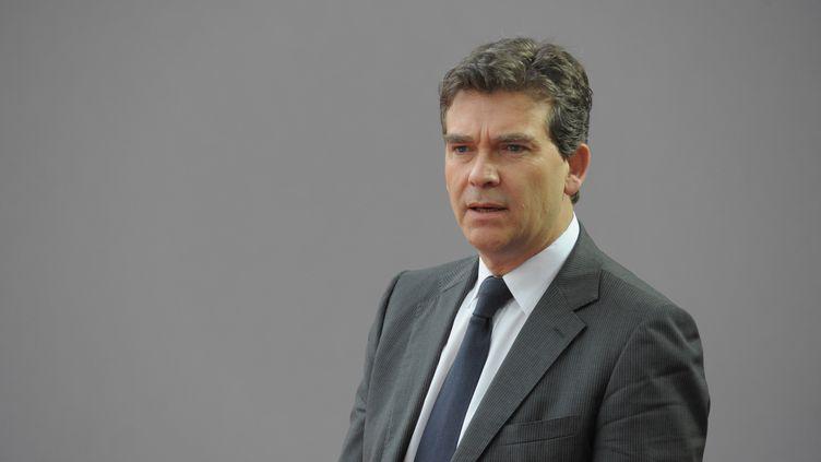 Le ministre du Redressement productif, Arnaud Montebourg, le 31 août 2012à l'université d'été du Medef, à Jouy-en-Josas (Yvelines). (ERIC PIERMONT / AFP)
