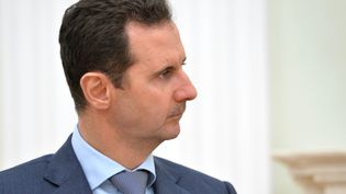 Le président syrien Bachar Al-Assad, lors d'une réunion avec Vladimir Poutine, le 20 octobre 2015. (ALEXEI DRUZHININ / RIA NOVOSTI /AFP)
