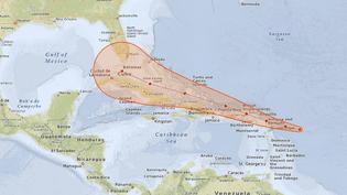 Trajectoire prévue de l'ouragan Irma entre le 5 et le 10 septembre 2017. (NICOLAS ENAULT / CARTO)