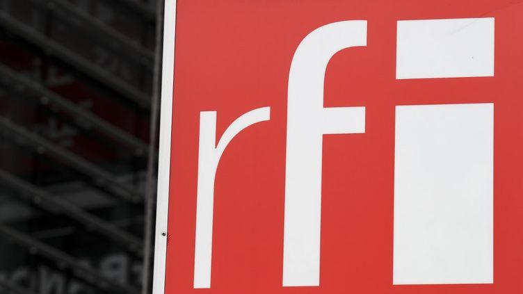 Le logo de Radio France Internationale (KENZO TRIBOUILLARD / AFP)