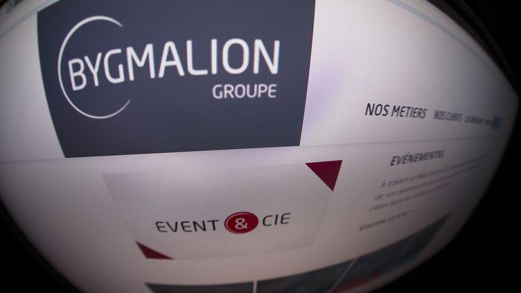 Le site internet de la société française Bygmalion et de sa filiale Event & Cie. (JOEL SAGET / AFP)