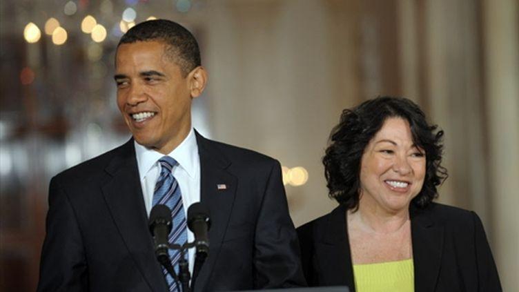 Barack Obama et Sonia Sotomayor (26 mai 2009) (© AFP/Saul LOEB)