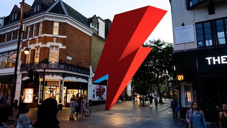 Le projet de sculpture Ziggy Zag en hommage à Bowie à Brixton.  (This Ain't Rock'n'Roll)