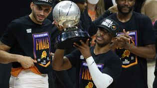 Chris Paul va disputer les Finales NBA pour la première fois de sa carrière à 36 ans. (HARRY HOW / Getty Images via AFP)