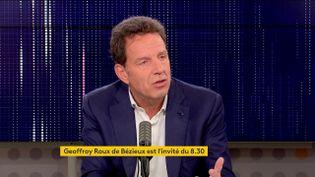 Geoffroy Roux de Bézieux, président du Medef, invité sur franceinfo mardi 26 octobre. (FRANCEINFO / RADIOFRANCE)
