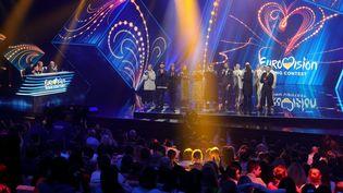 Lesdemi-finales de l'édition 2020 de l'Eurovision,le 15 février 2020 à Kiev, en Ukraine,avec une scène, un public... Cette année,la grande finale se passera sur le mode virtuel et confiné. (UKRINFORM / MAXPPP)