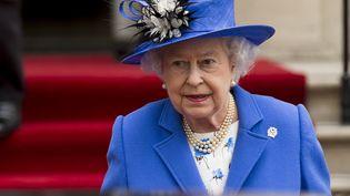 La reine Elizabeth II, le 19 avril 2015, à Londres (Royaume-Uni). (EUAN CHERRY / NURPHOTO / AFP)