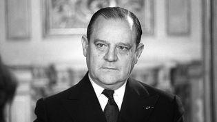 Raymond Barre, Premier ministre, le 3 janvier 1980. (GEORGES BENDRIHEM / AFP)