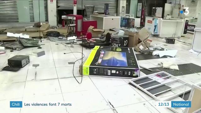 Chili : au moins sept morts en marge d'un violent mouvement de contestation