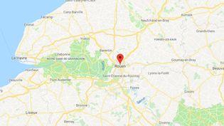 La ville de Rouen en Seine-Maritime. (GOOGLE MAPS / FRANCETV INFO)