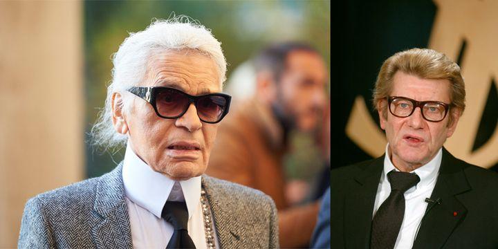 Karl Lagerfeld et Yves Saint Laurent  (AFP)