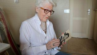 A 92 ans, Colette Marin-Catherine est partie sur les traces de son frère executé en 1945 dans le campd'extermination de Dora en Allemagne (PHOTOPQR/OUEST FRANCE/MAXPPP)