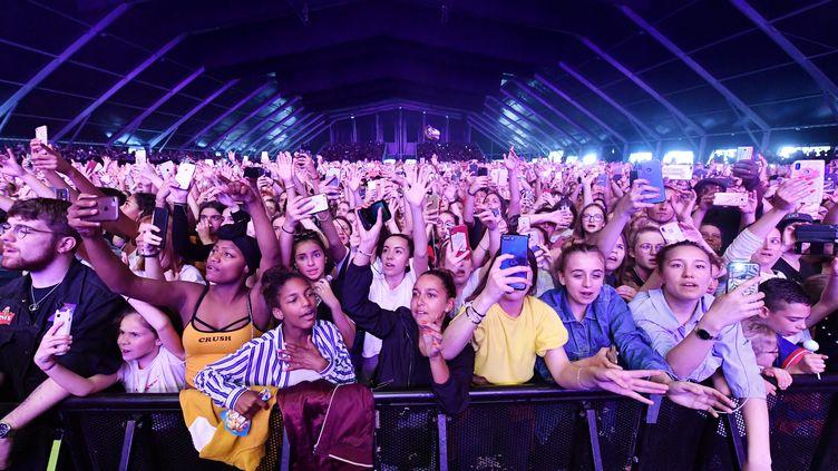 La foule lors d'un concert, ici au Printemps de Bourges, le 21 avril 2019. (PIERRICK DELOBELLE / MAXPPP)