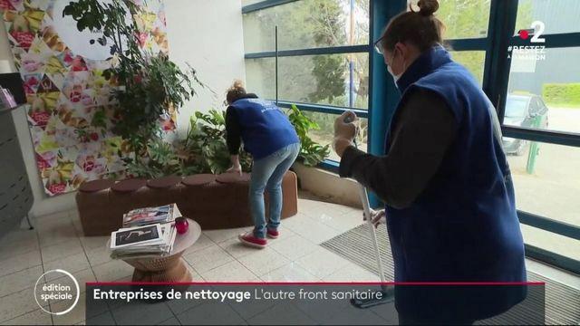 Coronavirus: les entreprises de nettoyage en première ligne