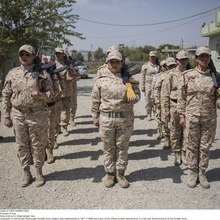 Des combattantes kurdes à Souleymanieh (Irak), le 27 août 2014. (VIANNEY LE CAER / SIPA)