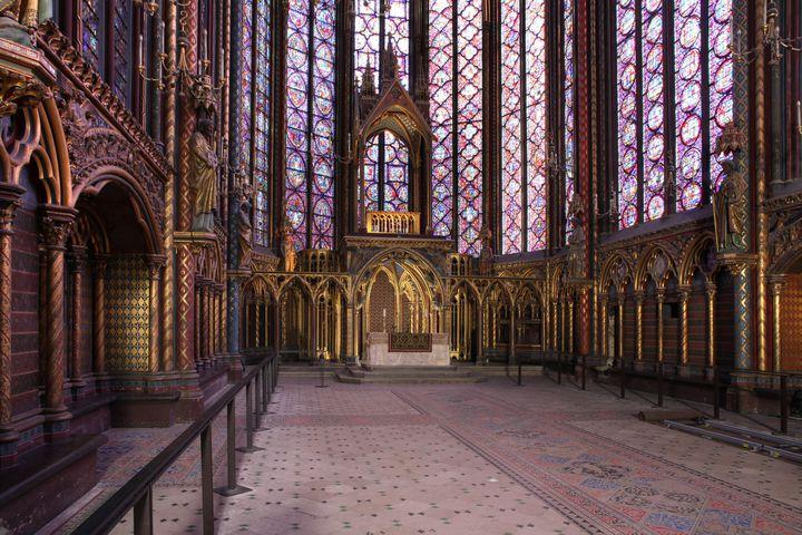Vue intérieure de la Chapelle haute  (Manuel Cohen /AFP)