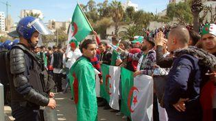 Une manifestation de jeunes contre le président Bouteflika à Oran, en Algérie, le 5 mars 2019. (- / AFP)