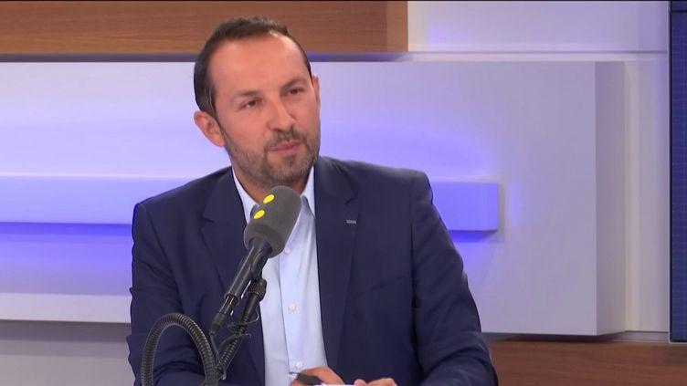 Sébastien Chenu, porte-parole du Rassemblement national, le 4 septembre 2019 sur franceinfo. (FRANCEINFO / RADIOFRANCE)