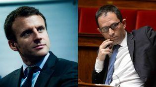 Emmanuel Macron et Benoît Hamon (AFP)