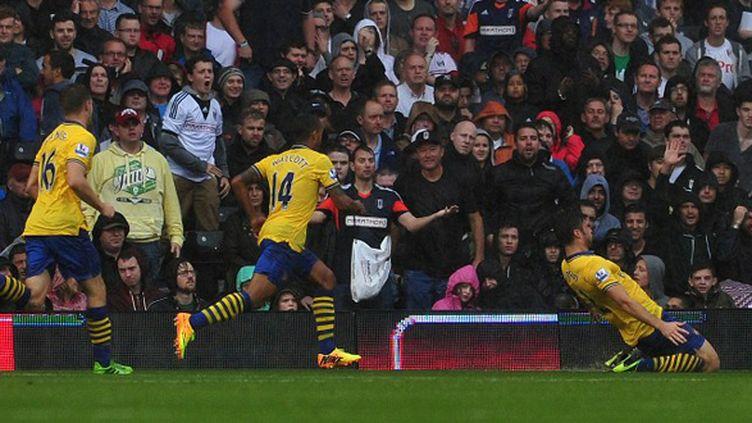Giroud célèbre son but (CARL COURT / AFP)