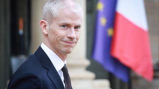 Le ministre de la Culture Franck Riester à l'Elysée (Paris), le 4 mars 2020. (LUDOVIC MARIN / AFP)
