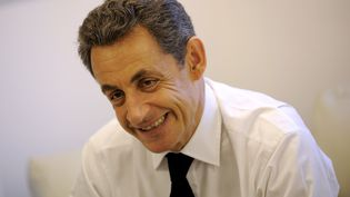 L'ancien président de la République, Nicolas Sarkozy, lors d'un entretien à son QG de campagne, le 24 avril 2012 à Paris. (MAXPPP)