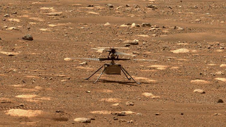 L'hélicoptère Ingenuity sur Mars, photographié par le rover Perseverance le8 avril 2021. (NASA/JPL-CALTECH/ASU)
