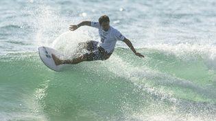 Le surfeur français Jérémy Florès lors des Jeux olympiques de Tokyo. (CURUTCHET VINCENT / KMSP)