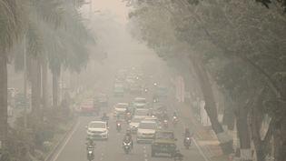 L'air pollué en Indonésie, le 13 septembre 2019. (DEDY SUTISNA / ANADOLU AGENCY / AFP)