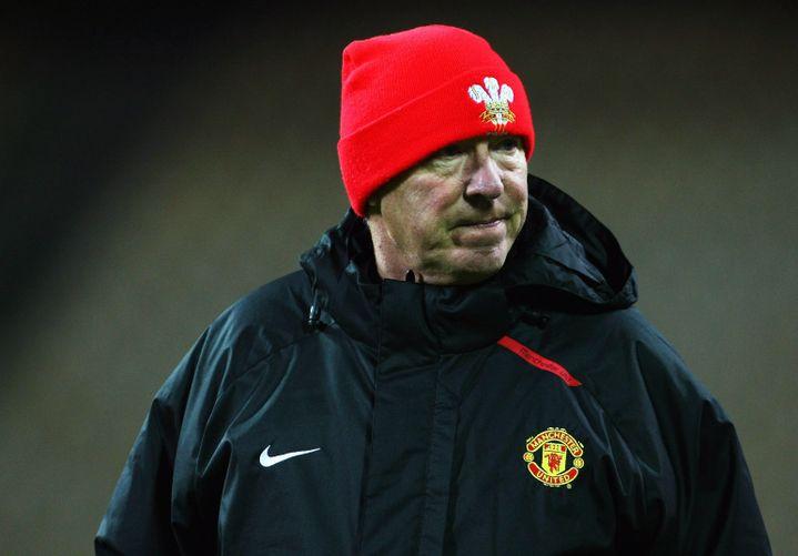 Sir Alex Ferguson avant un quart de finale de Ligue des champions en 2007, à Kiev (Ukraine). (CLIVE ROSE / GETTY IMAGES EUROPE)
