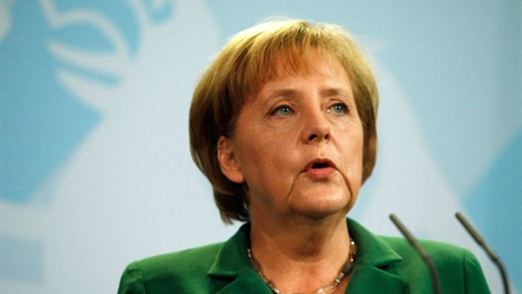 La chancelière fédérale, Angela Merkel, le 31 mai 2005 (AFP - David Gannon)