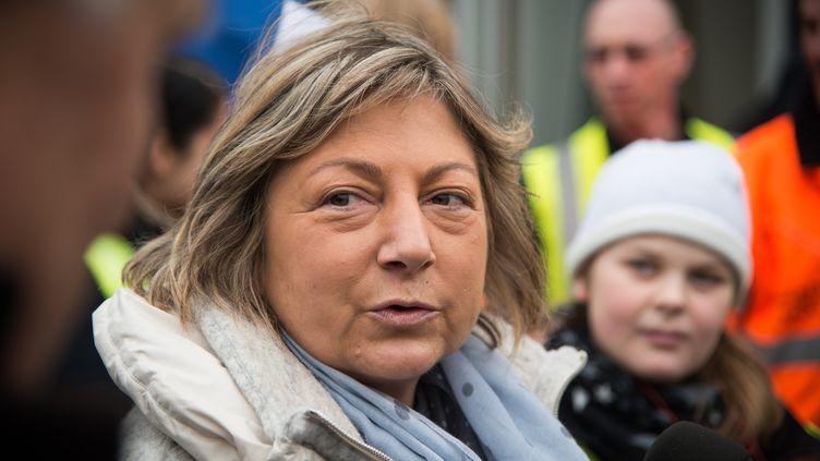 Natacha Bouchart, le 24 janvier 2016 à Calais (Pas-de-Calais) (CITIZENSIDE / MANNONE CADORET / AFP)