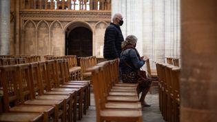 Cathédrale de Bayeux, le 8 octobre 2021. (Illustration) (STEPHANE DUPRAT / HANS LUCAS VIA AFP)