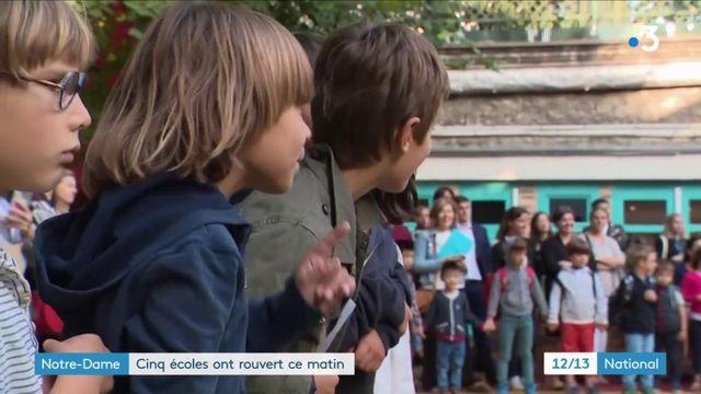 Notre-Dame : cinq écoles ont rouvert leurs portes